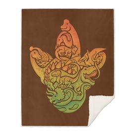 Prehistoric Print (brown)