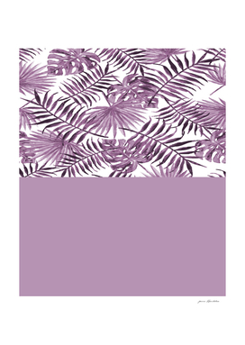Tropical Leaves In Violet