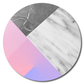 Marble Collage with Rose Quartz and Serenity
