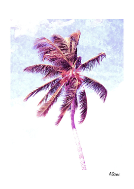 Palm Tree Violet Illustration