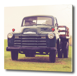 Retro Vintage Chevy Farm Truck