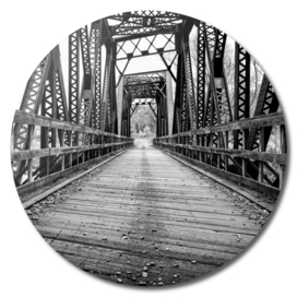Old Train Bridge Black and White