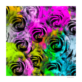 rose pattern texture abstract with painting texture abstract