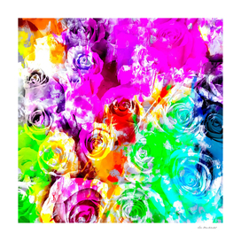 bouquet of rose pattern texture abstract