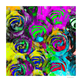 rose pattern texture abstract with painting abstract