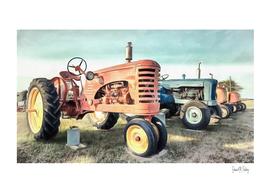 Row of Vintage Tractors Prince Edward Island