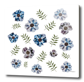delicate flowers pattern
