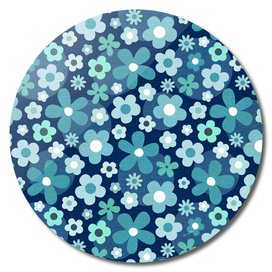 groovy baby - indigo and mint