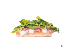 OPEN-FACED PROSCIUTTO AND ASPARAGUS
