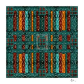"""""""Blue vintage textile patches"""""""