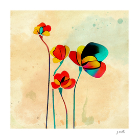 Exotic Watercolor Flower
