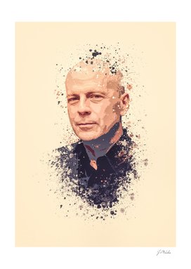Bruce Willis splatter painting