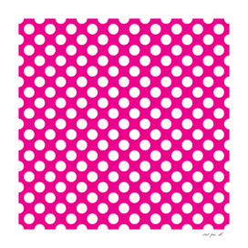White Polka Dots with Pink Background