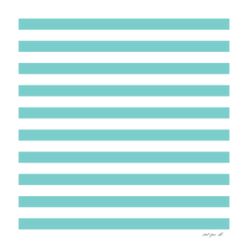 Horizontal Aqua Stripes