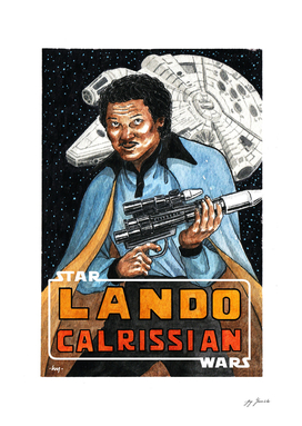 Lando Calrissian Watercolor Fanart By Yuivy