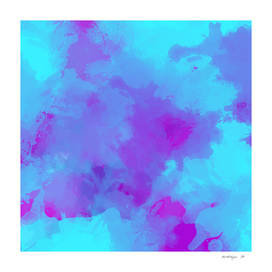 Watercolor abstract painting colorful