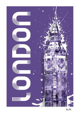Graphic Art LONDON Big Ben | ultraviolet