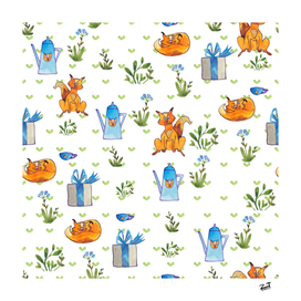 Big cats pattern
