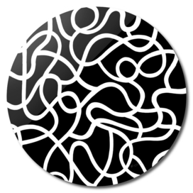 Organic River Lines - Black-White