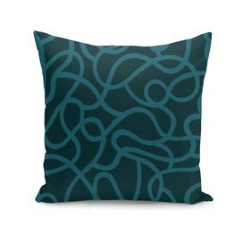Organic River Lines - Dark Blue