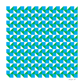 Blue Green and White Geometric Pattern