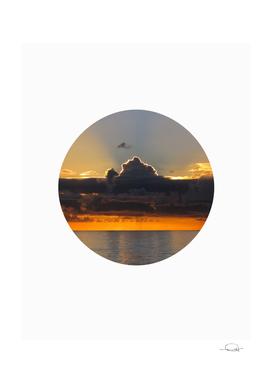 Circle Red Sky