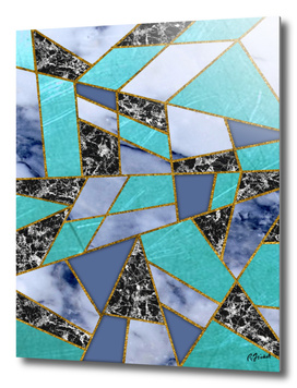 Abstract #457 Marble Shards