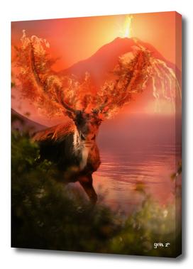 Deer on Fire by GEN Z