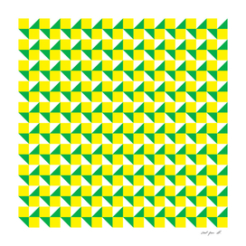 Yellow Green and White Geometric Pattern