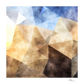 On the fields - abstract triangle pattern