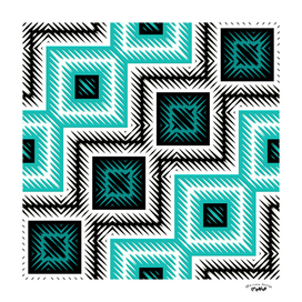 turquoise and black native