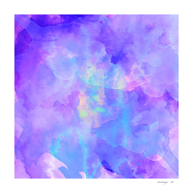 Watercolor abstract colorful digital painting