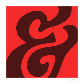 Abstract Ampersand Red