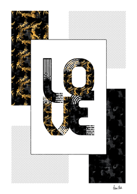 Graphic Art Gold LOVE | black