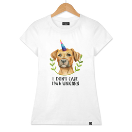 """I'M A UNICORN"" Pit Bull Dog Illustration"