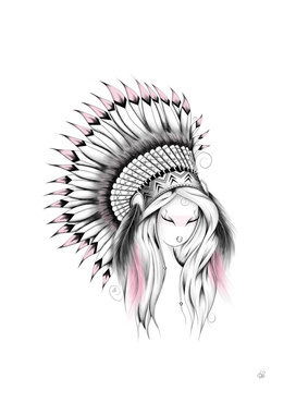 Indian Headdress Pink Version