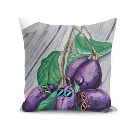 Swag plums illustration