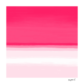 Pink Ombre Seascape Illustration