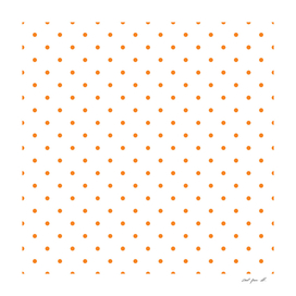 Small Orange Polka Dots Pattern