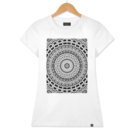 Black White Mandala Delight