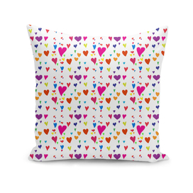 Imperfect Hearts Pattern - Original/White