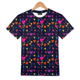 Imperfect Hearts Pattern - Original/Black