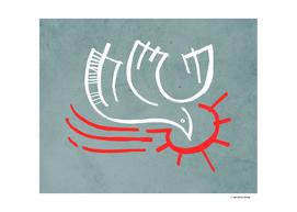 Holy Spirit dove religious symbol illustration