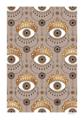 Gold Eyes Pattern