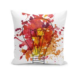 Watercolor illustration of edison's bulb