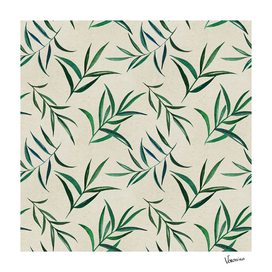 Watercolor seamless pattern on vintage paper.
