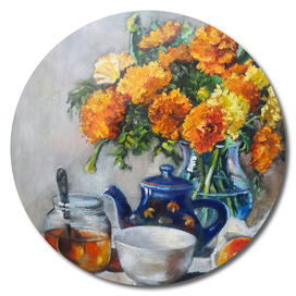 autumn marigolds