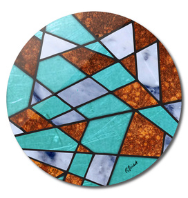 Abstract #477 Marble Shards & Rusted Metal