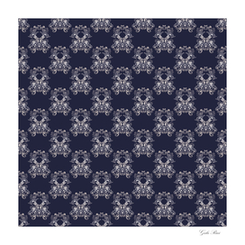 Baroque style navy pattern