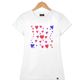 Imperfect Hearts - Color/White